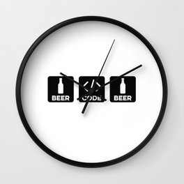 Beer Code Beer Wall Clock