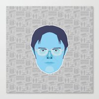 dwight schrute Canvas Prints featuring Dwight Schrute - The Office by Kuki