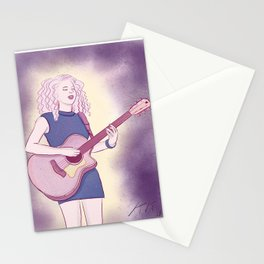 Acoustic Guitar Girl Stationery Cards
