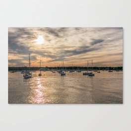 Hyannis sunset Canvas Print
