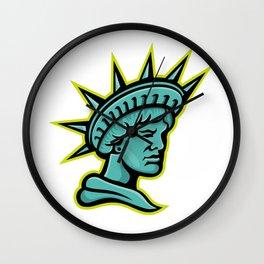 Lady Liberty or Libertas Mascot Wall Clock