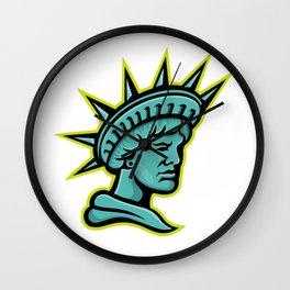 Lady Liberty or Libertas Mascot Wall Clock