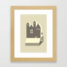 Small houses Framed Art Print