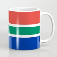 south africa Mugs featuring Flag of South Africa by Neville Hawkins
