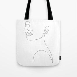 Girly Portrait Tote Bag