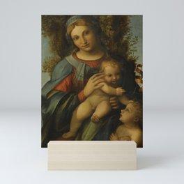 "Antonio Allegri da Correggio ""Madonna and Child with infant Saint John the Baptist"" Mini Art Print"