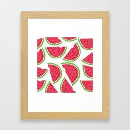 Watermelon Summer Framed Art Print