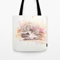 """sonic Tote Bags featuring """"Sonic"""" by PaintedBunting"""