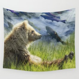 A Little Bear Dreams of Sweet Tomorrows Wall Tapestry