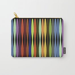 Eucalyptus Rainbow Tree Inspired Art on Black background Carry-All Pouch