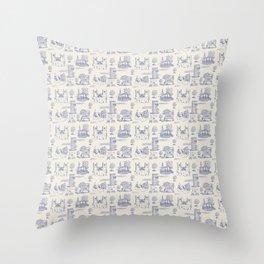 Gilmore Toile De Jouy Throw Pillow