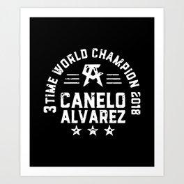 TIME WORLD CHAMPION  CANELO ALVAREZ SHIRT Art Print