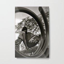 Circled love Metal Print