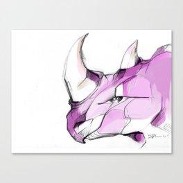 rhino face Canvas Print
