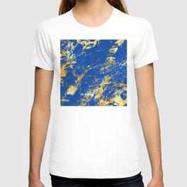 Sapphire Blue Marble With Breathtaking 24-Karat Gold Veins T-shirt
