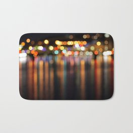 Bokeh City Night Lights Bath Mat