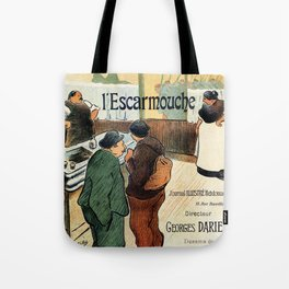 L'Escarmouche Vintage French bar scene Tote Bag