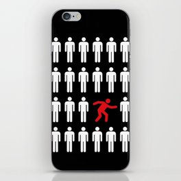 be different, be yourself iPhone Skin