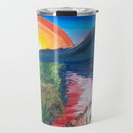 Brisbane River and Mt Crosby at Sunset Travel Mug