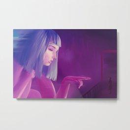 neon painting noir Blade Runner 2049 Joi hologram Ana de Armas digital purple Metal Print