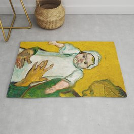 Madame Roulin and Her Baby (1888) by Vincent Van Gogh Rug