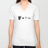 ghostbusters V-neck T-shirts featuring Ghostbusters - Weapons by V.L4B