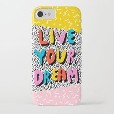 Ya Heard - 1980's throwback retro pattern memphis-style hipster bright colorful pop art minimal rad Slim Case iPhone 7