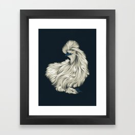 Fluffy Silkie Chicken Framed Art Print