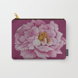 Watercolour Painting of a Pink Peony  Carry-All Pouch