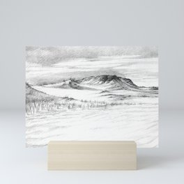 Beach Sand Dunes - Drawing Mini Art Print