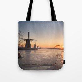 Windmills at Sunrise Tote Bag