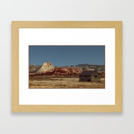 Historic Cabin An Outpost in UTAH--John D Barrett Photography Framed Art Print