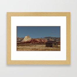 Historic Cabin An Outpost in UTAH--John D Barrett Photography Framed Art Print