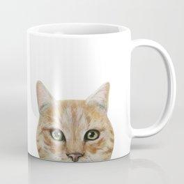 Golden British shorthair, America shorthair, cat, acrylic illustration by miart Coffee Mug
