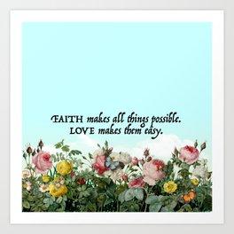 Faith & Love Art Print