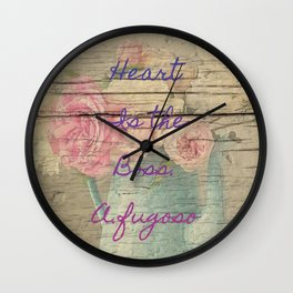 heart is the boss Wall Clock
