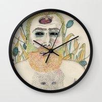 men Wall Clocks featuring three men by Édgar MT