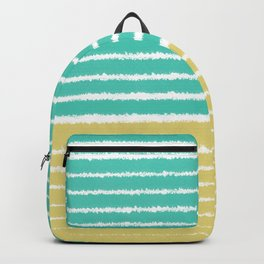 Gold and Aqua Color Teal Backpack