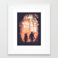 the last of us Framed Art Prints featuring The Last of Us by Lee Shackleton