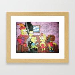 Simpsons Treehouse of Horrors Chalk Piece Framed Art Print