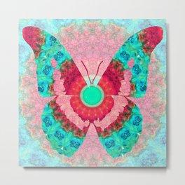 Butterfly Mandala 3 Art by Sharon Cummings Metal Print