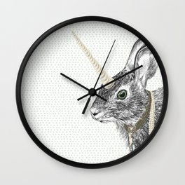 uni-hare All animals are magical Wall Clock