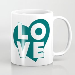 LOVE & heart // dark teal Coffee Mug