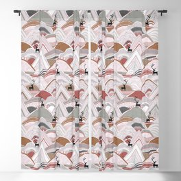 caribou mountains sienna Blackout Curtain