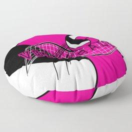 Volleyball Sport Game - Net - Hot Pink Floor Pillow