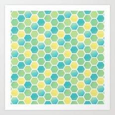 Summer Time Honeycomb Art Print