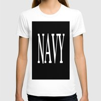 navy T-shirts featuring NAVY by shannon's art space
