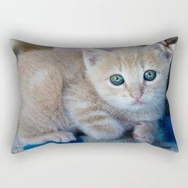 Red Kitten Rectangular Pillow