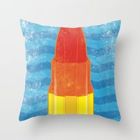 rocket Throw Pillows featuring Rocket by Nicholas Darby