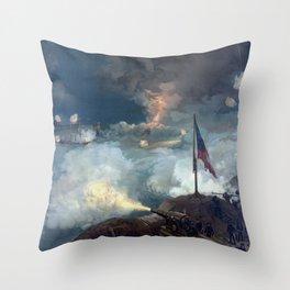 The Battle of Port Hudson Throw Pillow